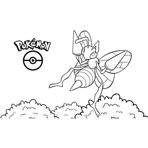 pokemon beedrill coloring book