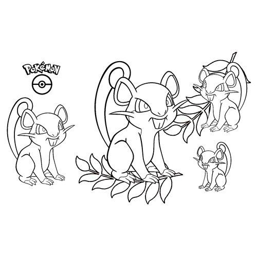 pokemon rattata coloring book