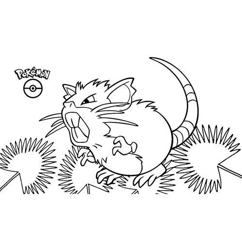 pokemon raticate coloring book