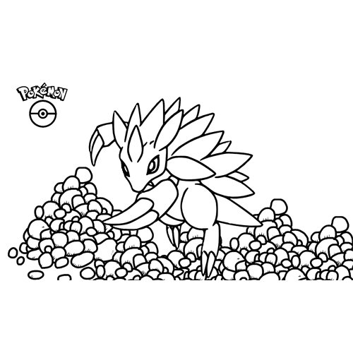 super pokemon Sandlash coloring book