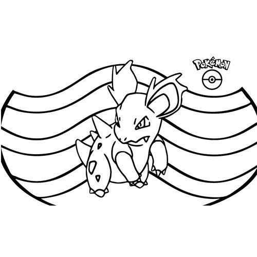 pokemon nidorina coloring book for kids