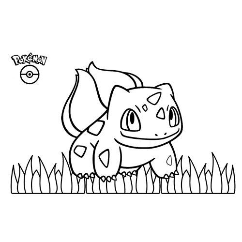 bulbasaur pokemon coloring book