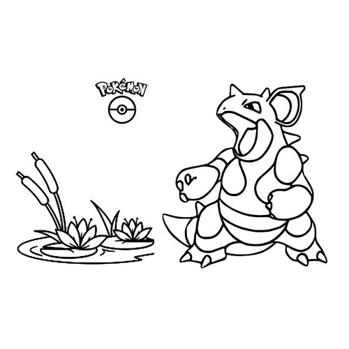 super Nidoqueen coloring book