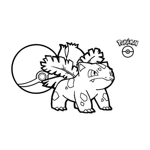 ivysaur pokemon coloring book for kids