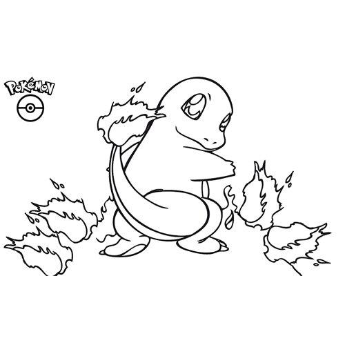 charmander pokemon coloring book