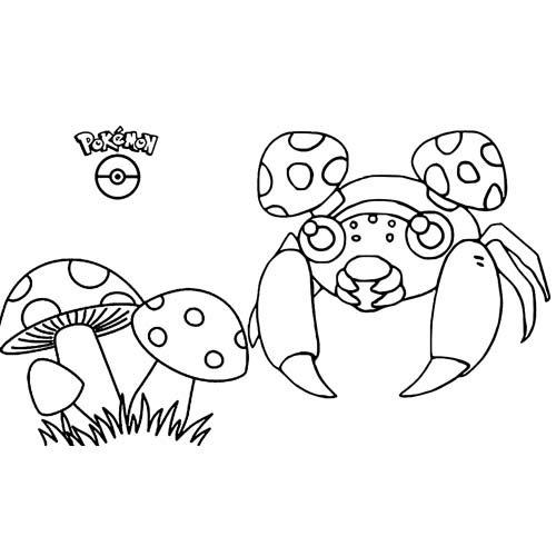 super paras pokemon coloring book