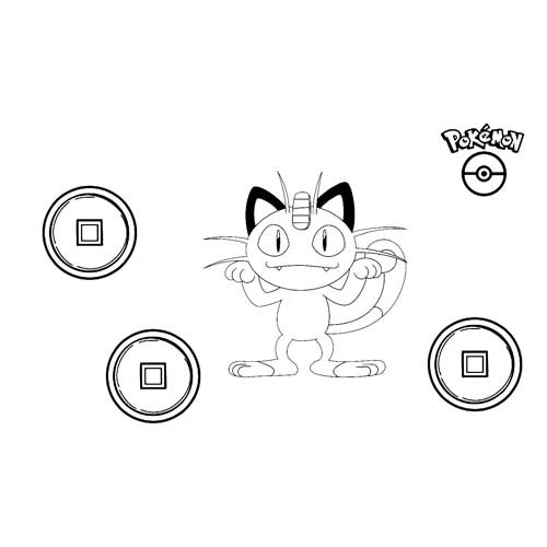 funny meowth pokemon coloring book