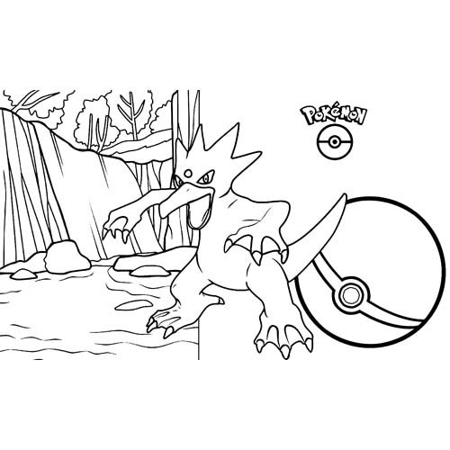 pokemon golduck coloring book