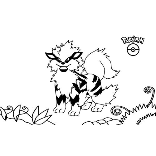 super arcanine coloring book