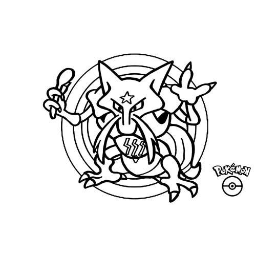 pokemon kadabra coloring book
