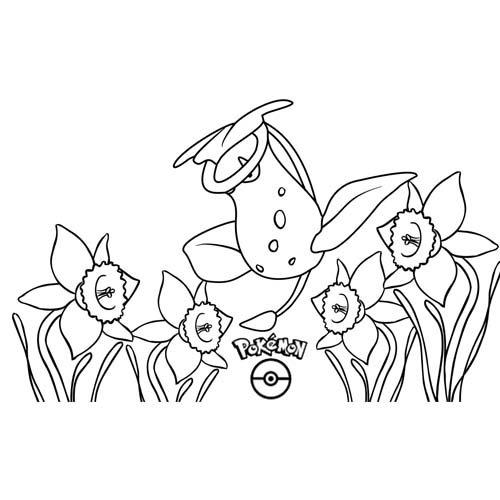 funny Victreebel pokemon coloring book