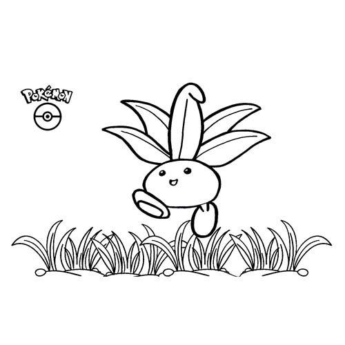 cute oddish pokemon coloring book