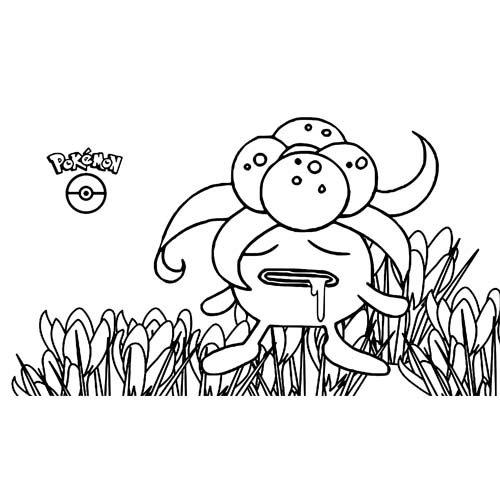 funny gloom pokemon coloring book