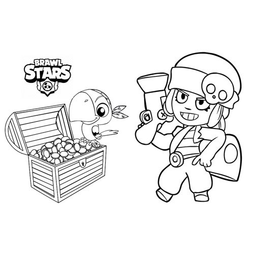 penny brawl stars coloring book
