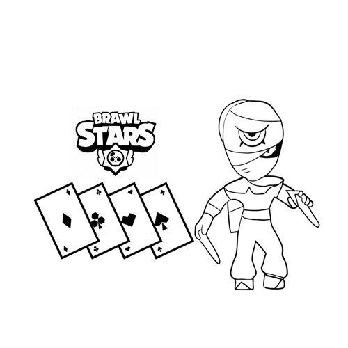 tara brawl stars coloring book