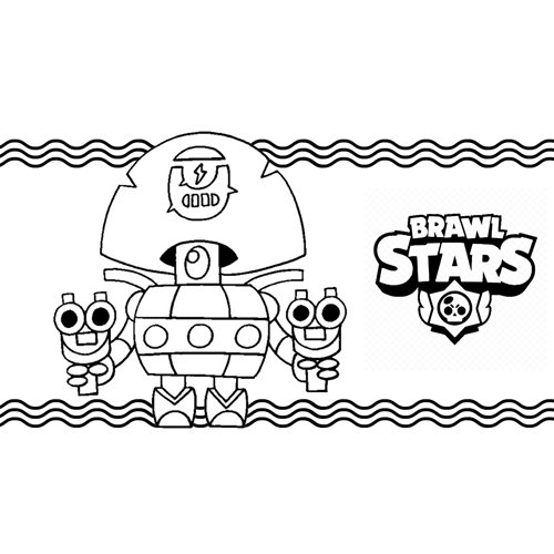 darryl brawl stars coloring book