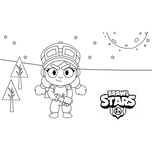 jessie brawl stars coloring book