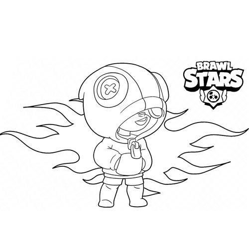 super leon brawl star coloring book