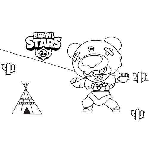 nita brawl stars coloring book