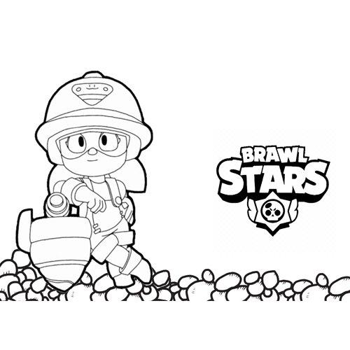 cute jacki brawl stars coloring book