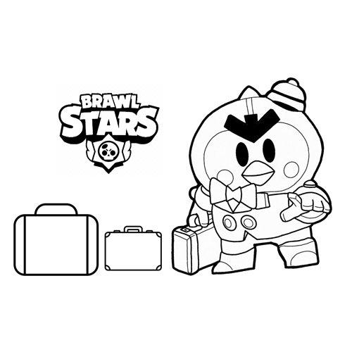 mr p brawl stars coloring book