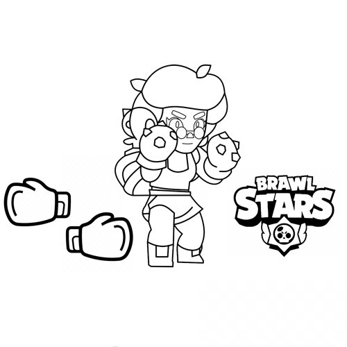 rosa brawl stars coloring book