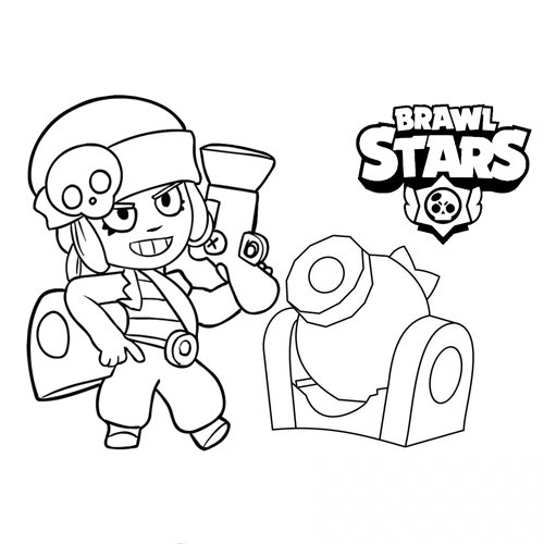 penny-and-her-turret-brawl-stars.coloring book