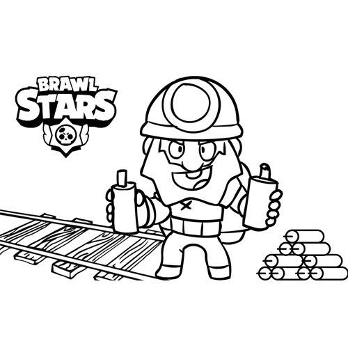 dynamike brawl stars coloring book