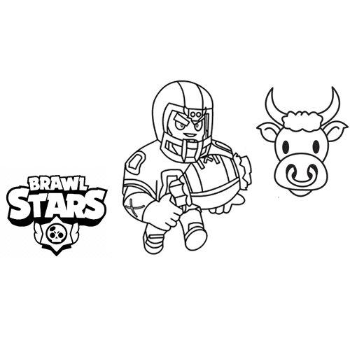bull brawl stars coloring book