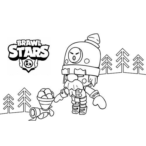 cute robot brawl stars coloring book