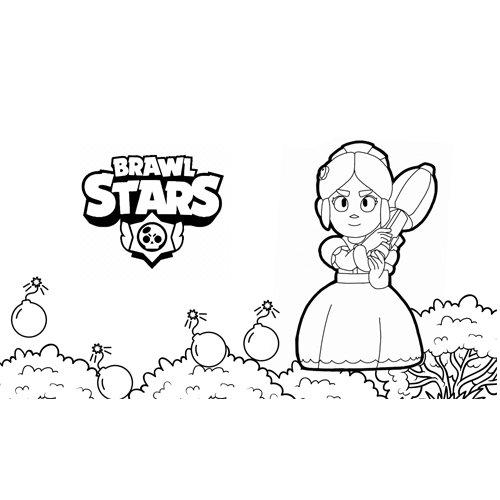 piper brawl stars coloring book