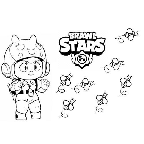 bea brawl stars coloring book