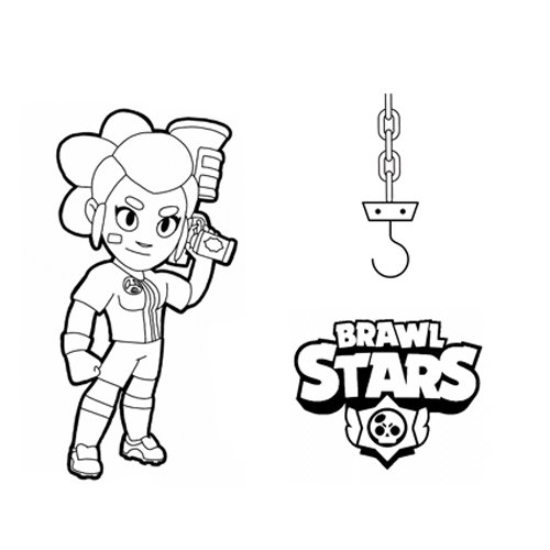 shelly and her gadget brawl stars coloring book