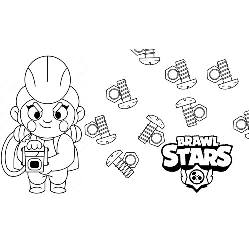 pam brawl stars coloring book
