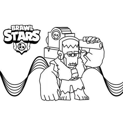 frank brawl stars coloring book