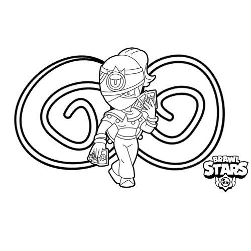 strong tara brawl star coloring book