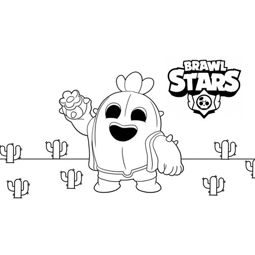 spike brawl stars coloring book