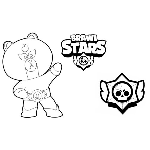 the brown brawl stars coloring book