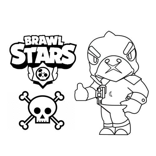 the big crow brawl stars coloring book