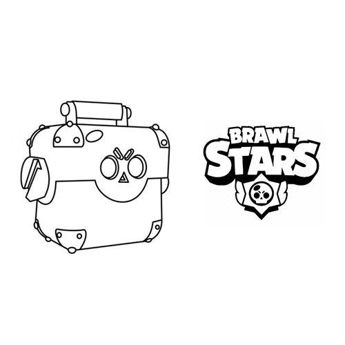 mega box brawl stars coloring book