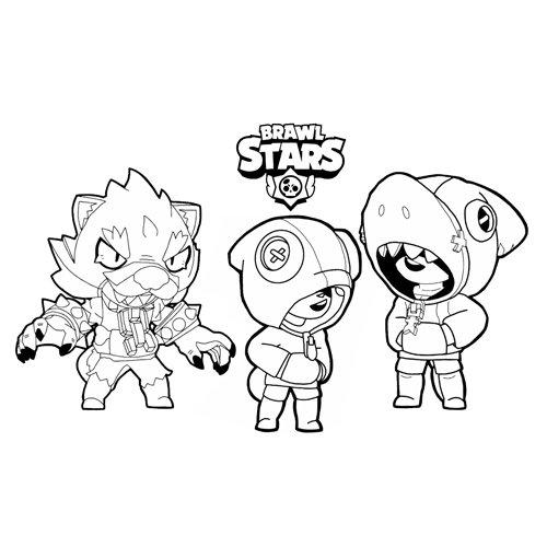 team leon brawl stars coloring book
