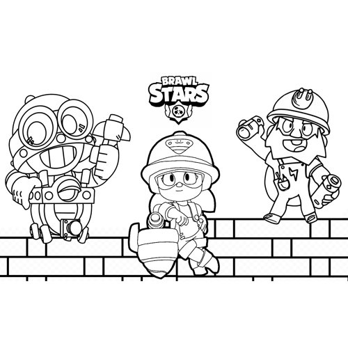 the builders brawl stars coloring book