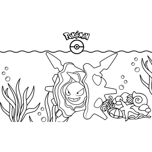 cloyster pokemon coloring book