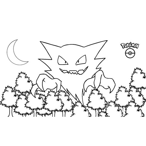 scary haunter pokemon coloring book for kids