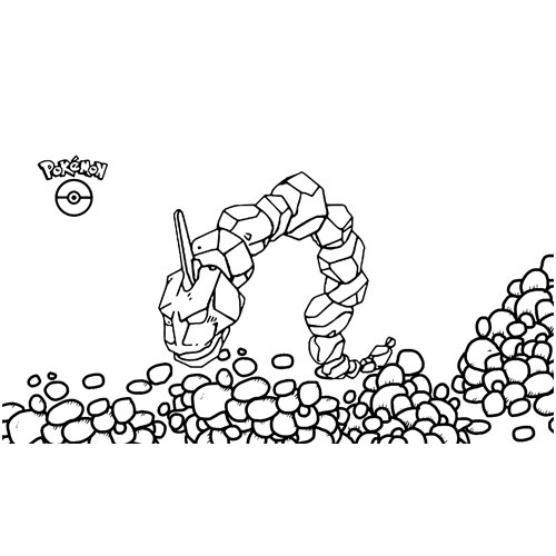 strong onix pokemon coloring book