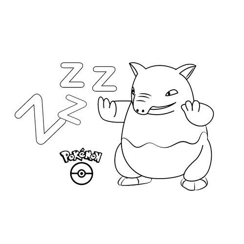 funny drowzee pokemon coloring book