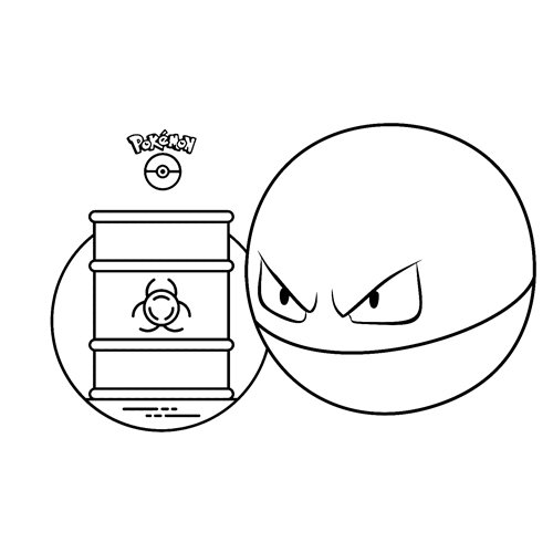 strong Voltorb pokemon coloring boo