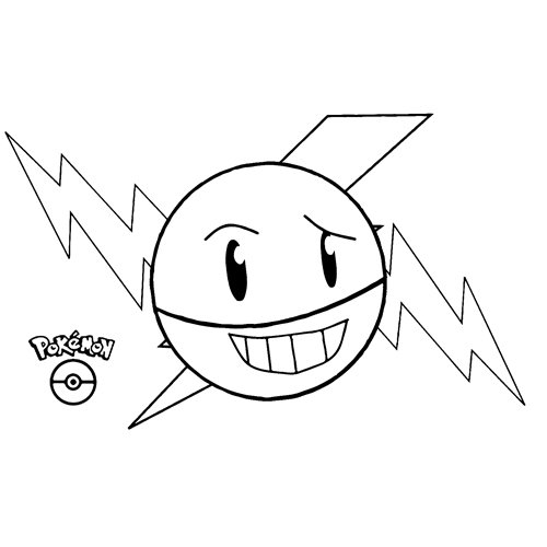 funny electrode pokemon coloring book