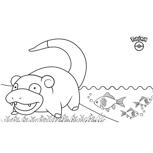 cute slowpoke pokemon coloring boo
