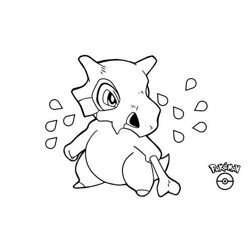funny cubone pokemon coloring book